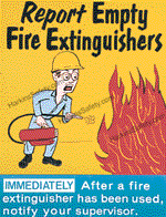 Report Empty Fire Extinguishers