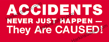 Accidents Never Just Happen... are Caused! (C) (Poly Indoor Giant)