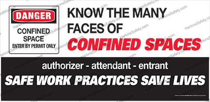 Know The Many Faces Of Confined Spaces (Reinforced Vinyl Junior)