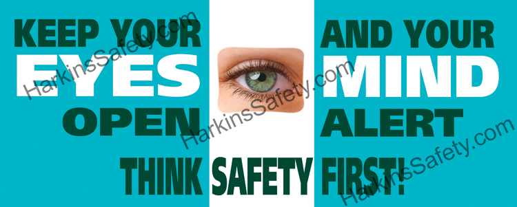 Keep Eyes Open & Mind Alert W/ Lenticular Eye (INDOOR USE ONLY) (Poly Indoor Giant)