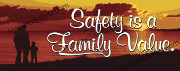 Safety Is A Family Value. (Reinforced Vinyl Junior)