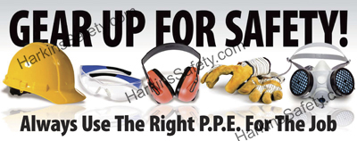 Gear Up For Safety ....(EAR MUFF VERSION) (Reinforced Vinyl Giant)