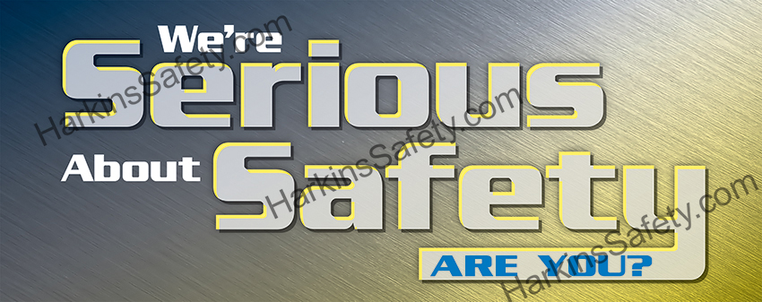 We're Serious About Safety (Reinforced Vinyl Junior)