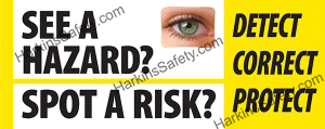 See a Hazard? w/ Lenticular Eye (Indoor Use Only) (Reinforced Vinyl Giant)