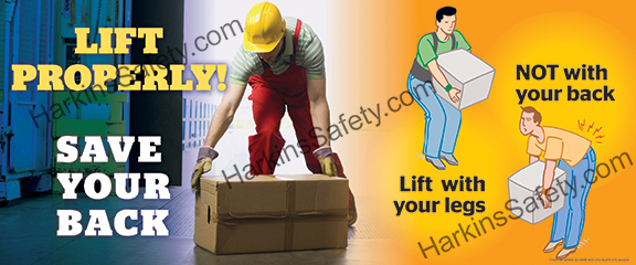 Lift Properly !...Save Your Back (Reinforced Vinyl Junior)