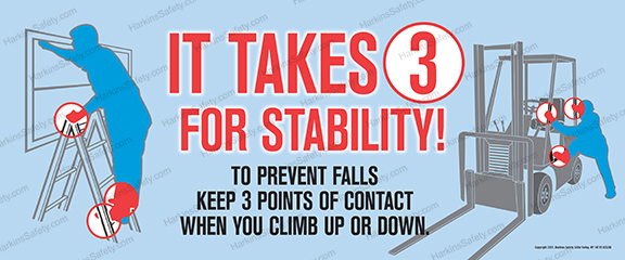 IT TAKES 3 FOR STABILITY (FORK LIFT VERSION) (Reinforced Vinyl Junior)
