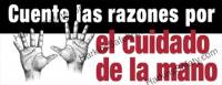 Cuente Las Razones... (Spanish) Count The Reasons ..Hand Safety (Reinforced Vinyl Junior)