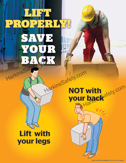 Lift Properly !...Save Your Back Poster