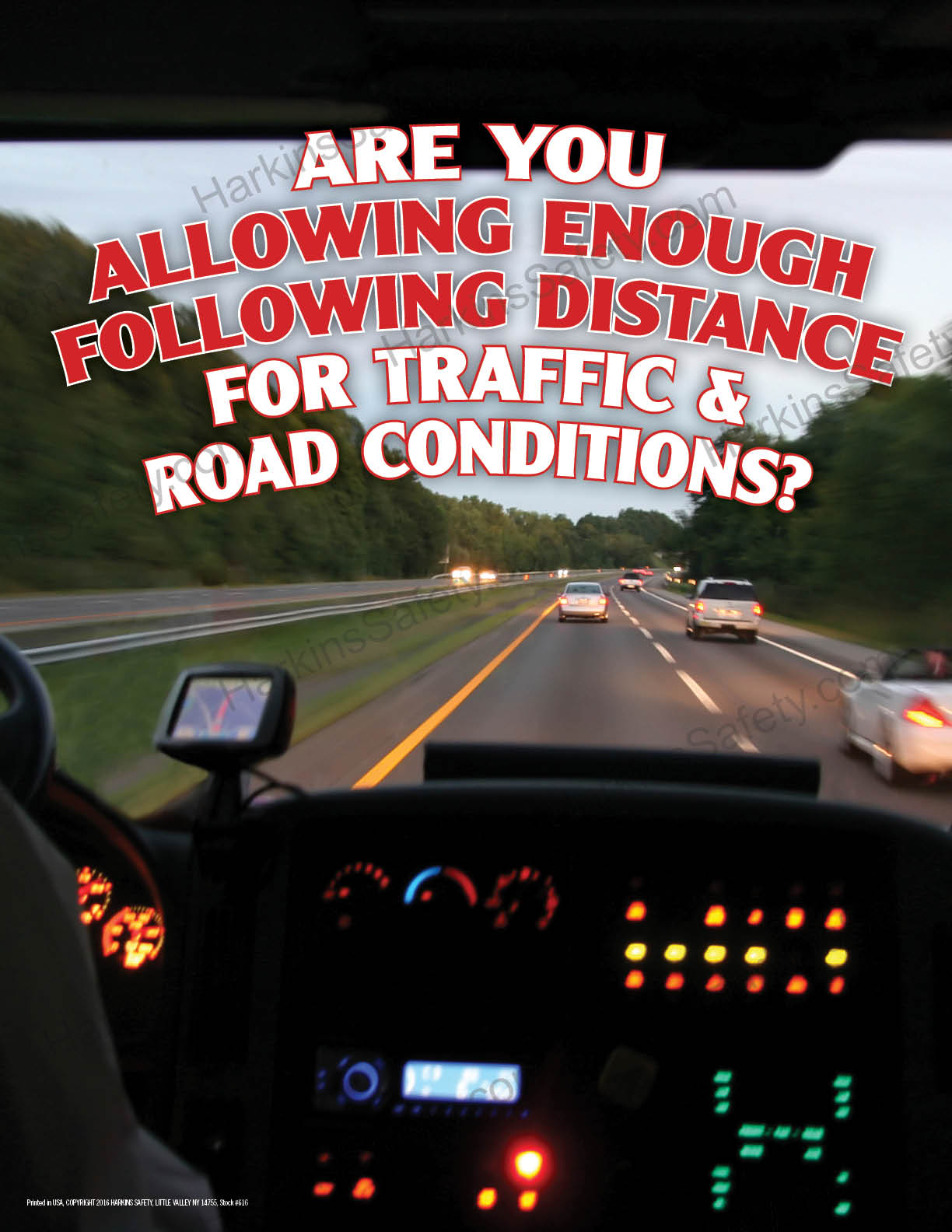Are You Allowing Enough Following Distance....? (Poster)