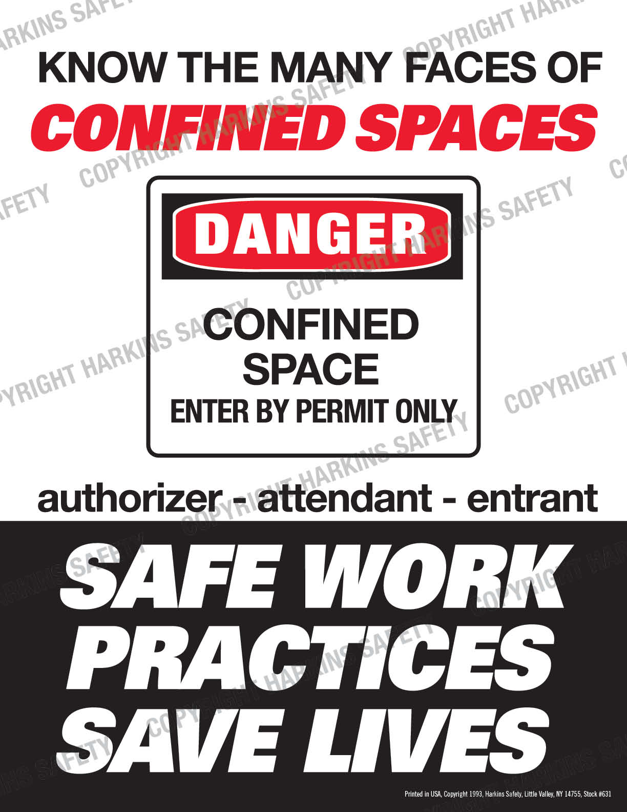 Know The Many Faces Of Confined Spaces (Poster)