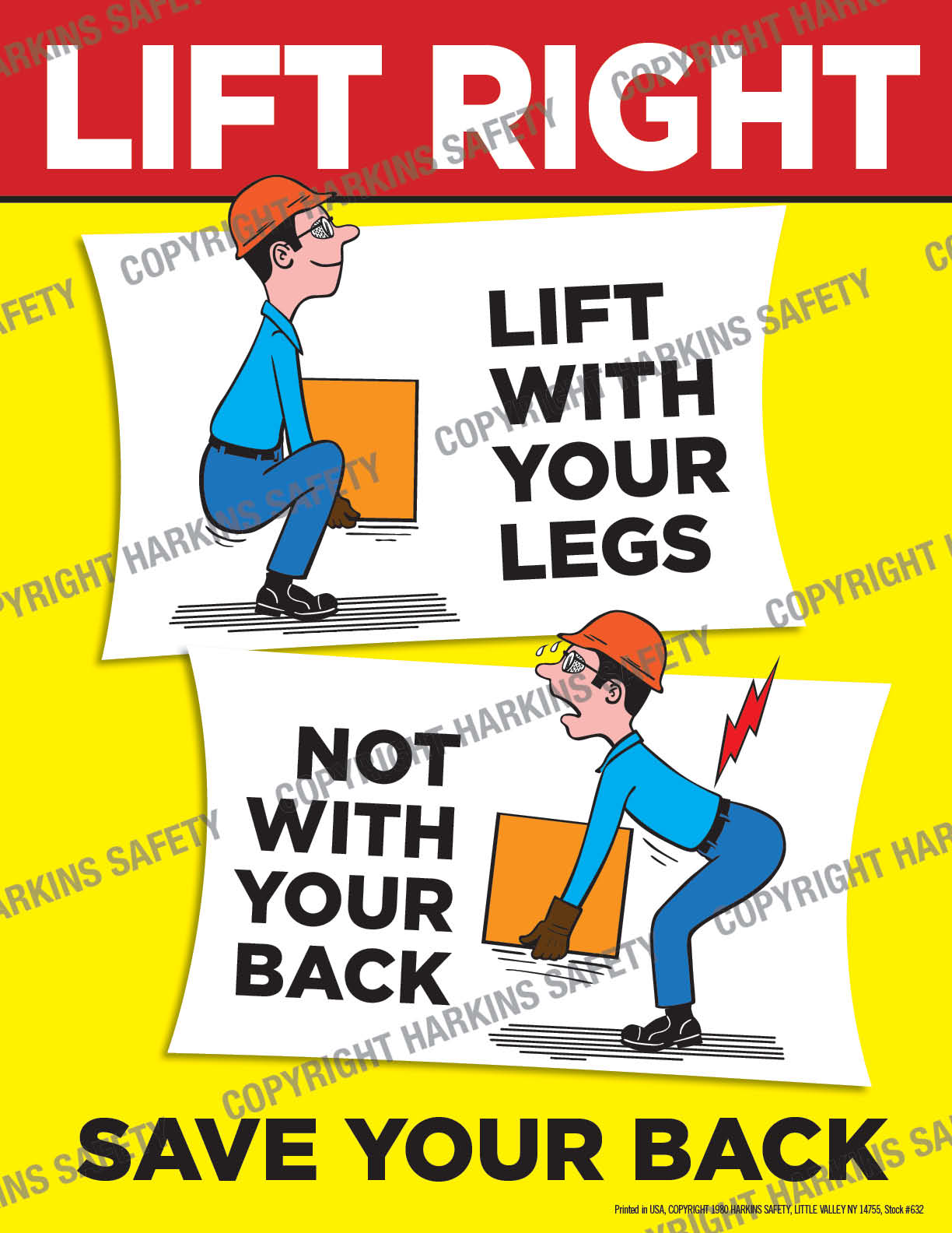 Lift Right ! Save Your Back (Poster)